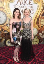 HOLLYWOOD, CA - MAY 23: Actresses Anne Hathaway and Mia Wasikowska attend Disney's 'Alice Through the Looking Glass' premiere with the cast of the film, which included Johnny Depp, Anne Hathaway, Mia Wasikowska and Sacha Baron Cohen at the El Capitan Theatre on May 23, 2016 in Hollywood, California. (Photo by Alberto E. Rodriguez/Getty Images for Disney) *** Local Caption *** Anne Hathaway; Mia Wasikowska