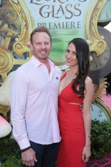 """Ian Ziering and Erin Kristine Ludwig pose together at The US Premiere of Disney's """"Alice Through the Looking Glass"""" at the El Capitan Theater in Los Angeles, CA on Monday, May 23, 2016. .(Photo: Alex J. Berliner/ABImages)"""