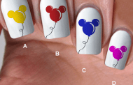 Disney Summer Style With Mickey Balloon Nail Decals