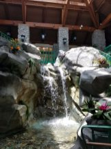 Waterfall between Lobby and Transportation area
