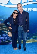 HOLLYWOOD, CA - JUNE 08: Gail Morris (L) and President of Pixar Animation Studios, Jim Morris attend The World Premiere of Disney-Pixar's FINDING DORY on Wednesday, June 8, 2016 in Hollywood, California. (Photo by Alberto E. Rodriguez/Getty Images for Disney) *** Local Caption *** Gail Morris; Jim Morris