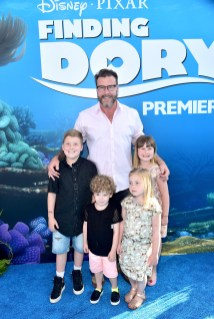 HOLLYWOOD, CA - JUNE 08: Actor Dean McDermott (C) and guests attend The World Premiere of Disney-Pixar's FINDING DORY on Wednesday, June 8, 2016 in Hollywood, California. (Photo by Alberto E. Rodriguez/Getty Images for Disney) *** Local Caption *** Dean McDermott