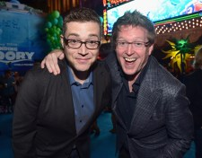 HOLLYWOOD, CA - JUNE 08: Co-Director Angus MacLane (L) and Director/screenwriter Andrew Stanton attend The World Premiere of Disney-Pixar's FINDING DORY on Wednesday, June 8, 2016 in Hollywood, California. (Photo by Alberto E. Rodriguez/Getty Images for Disney) *** Local Caption *** Angus MacLane; Andrew Stanton