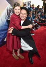 """HOLLYWOOD, CA - JUNE 21: Actress Ruby Barnhill (L) and actor Mark Rylance arrive on the red carpet for the US premiere of Disney's """"The BFG,"""" directed and produced by Steven Spielberg. A giant sized crowd lined the streets of Hollywood Boulevard to see stars arrive at the El Capitan Theatre. """"The BFG"""" opens in U.S. theaters on July 1, 2016, the year that marks the 100th anniversary of Dahl's birth, at the El Capitan Theatre on June 21, 2016 in Hollywood, California. (Photo by Alberto E. Rodriguez/Getty Images for Disney) *** Local Caption *** Ruby Barnhill; Mark Rylance"""