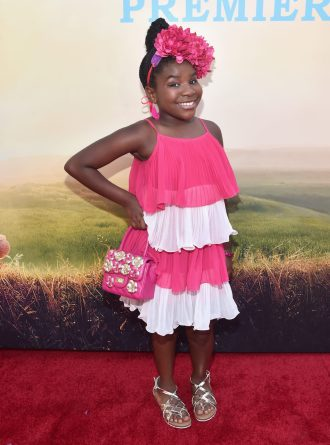 """HOLLYWOOD, CA - JUNE 21: Actress Trinitee Stokes arrives on the red carpet for the US premiere of Disney's """"The BFG,"""" directed and produced by Steven Spielberg. A giant sized crowd lined the streets of Hollywood Boulevard to see stars arrive at the El Capitan Theatre. """"The BFG"""" opens in U.S. theaters on July 1, 2016, the year that marks the 100th anniversary of Dahl's birth, at the El Capitan Theatre on June 21, 2016 in Hollywood, California. (Photo by Alberto E. Rodriguez/Getty Images for Disney) *** Local Caption *** Trinitee Stokes"""