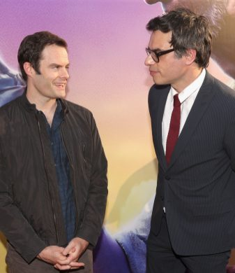 """HOLLYWOOD, CA - JUNE 21: Actors Bill Hader and Jemaine Clement arrive on the red carpet for the US premiere of Disney's """"The BFG,"""" directed and produced by Steven Spielberg. A giant sized crowd lined the streets of Hollywood Boulevard to see stars arrive at the El Capitan Theatre. """"The BFG"""" opens in U.S. theaters on July 1, 2016, the year that marks the 100th anniversary of Dahl's birth, at the El Capitan Theatre on June 21, 2016 in Hollywood, California. (Photo by Jesse Grant/Getty Images for Disney) *** Local Caption *** Bill Hader; Jemaine Clement"""