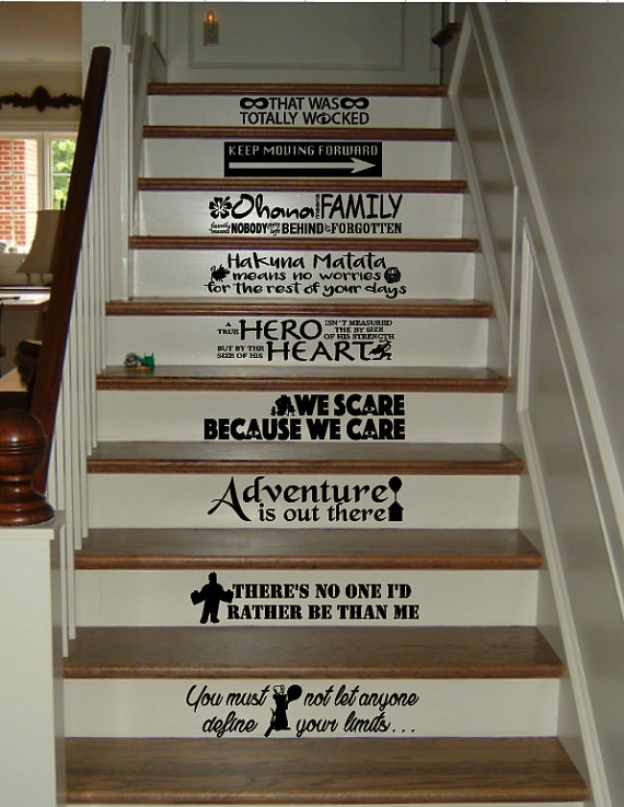 Add Smiles at Home with Disney Stair Decals