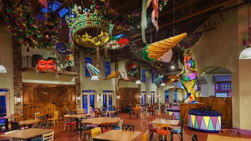 The Food Court at Disney's Port Orleans Resort – French Quarter Will Close for Refurbishment This Summer