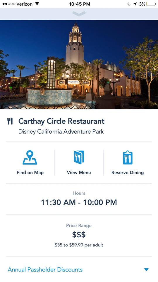 Disneyland Resort Dining Reservations Can Now be Made Using the App
