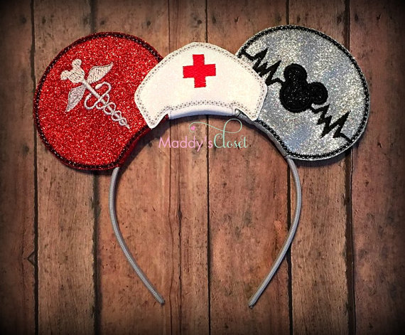 Nurse Themed Mickey Ears for The Nurses that Love Disney