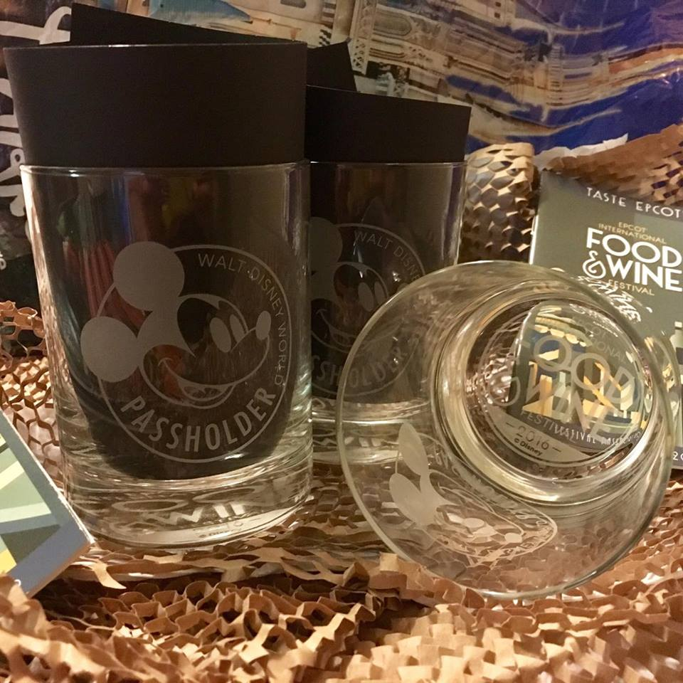 Limited Edition Food & Wine Festival Annual Passholder Glasses