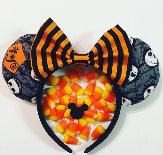 Spooky Sweet Jack Skellington Mouse Ears for Halloween