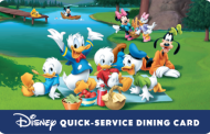 Pre-Paid Disney Quick Service Dining Gift Card Now Available with Certain Good Neighbor Packages for a Limited Time
