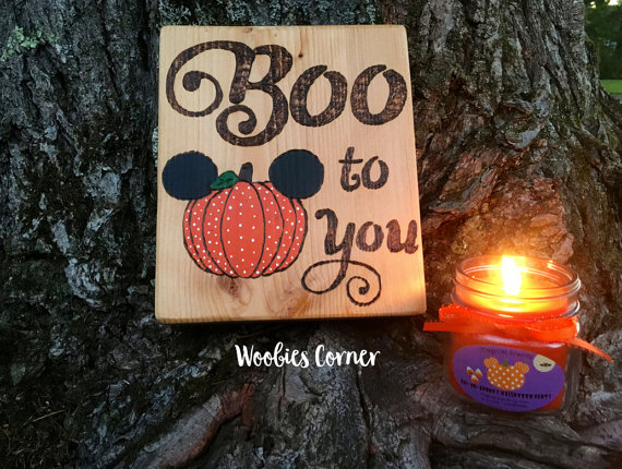 Complete Your Halloween Disney Decor with a Boo To You Wooden Sign