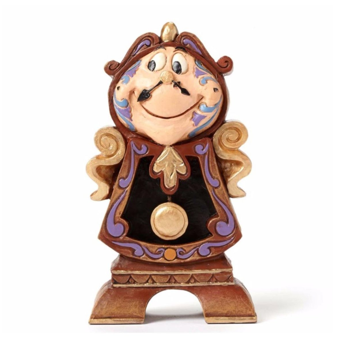 Enchanting Disney Traditions Beauty and the Beast Cogsworth Figurine