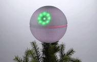 The Force is Strong with this Death Star Christmas Tree Topper