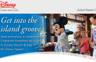 Special Aulani Discount offer for Disney Chase Visa Cardmembers