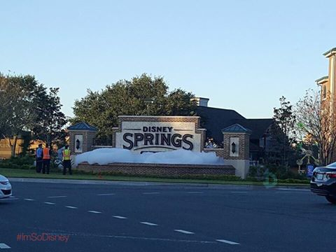 Vandals turn Disney Springs Fountain into bubble bath