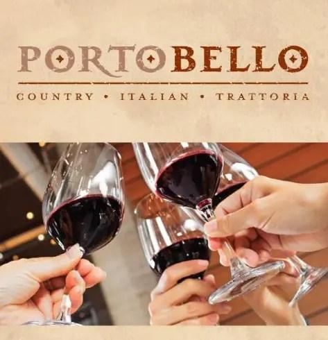 Portobello's in Disney Springs offering Happy Hour Special