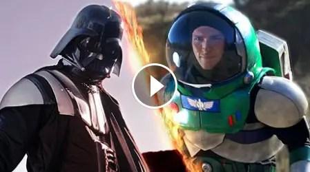 Darth Vader battles Buzz Lightyear in this fan made video