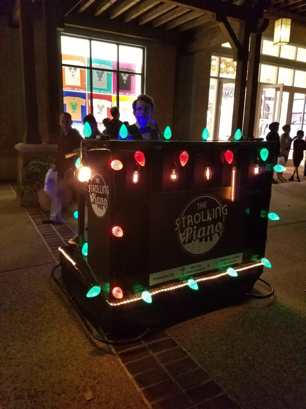 The Strolling Piano Provides Live Entertainment at Disney Springs