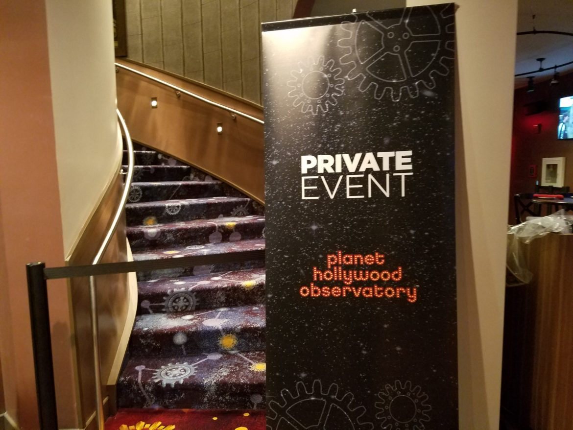 Planet Hollywood Observatory Dine Amongst the Stars Media Event and Review