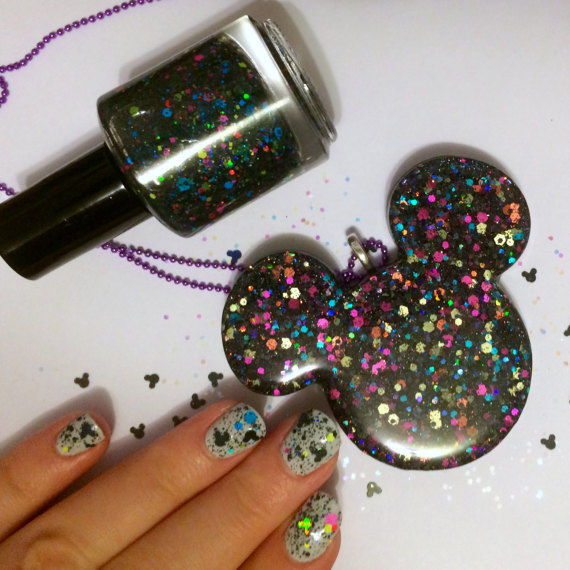 Stunning Matching Nail Polish and Necklace Disney Etsy Collaboration!