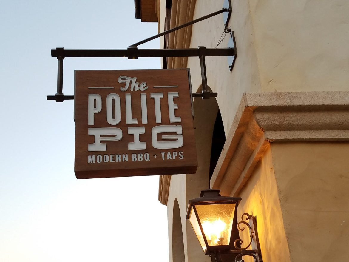 New Signs Visible For The Polite Pig Opening Soon in Disney Springs