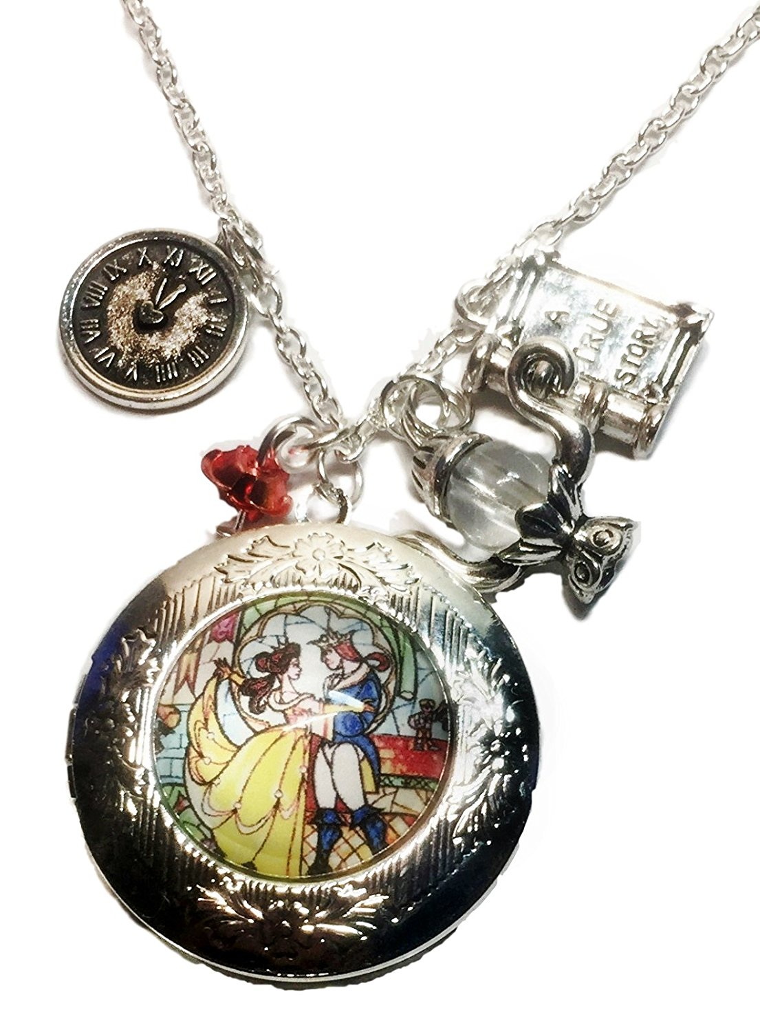 Absolutely Lovely Beauty and the Beast Charm Locket