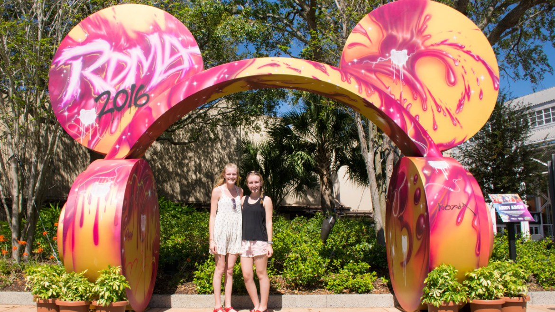 Radio Disney Arch on Display at Disney Springs