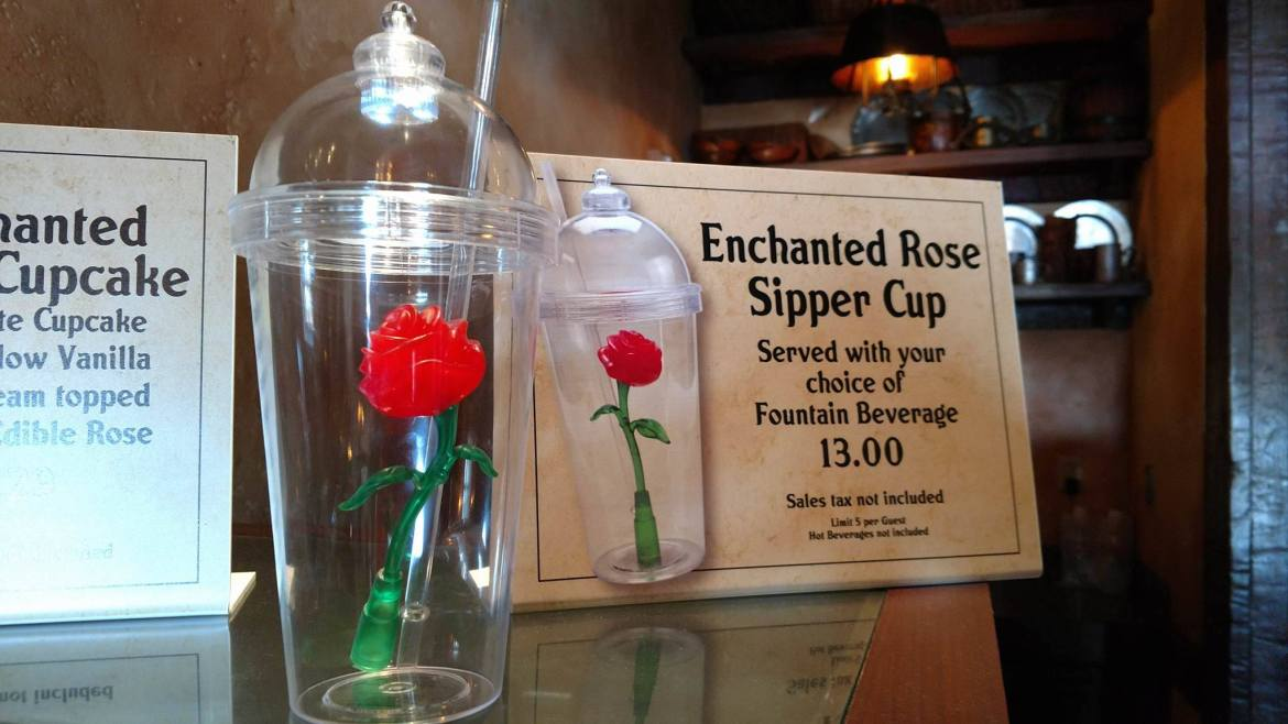 Beauty and The Beast-themed Enchanted Rose Souvenir Cup Now Available at Gaston's Tavern