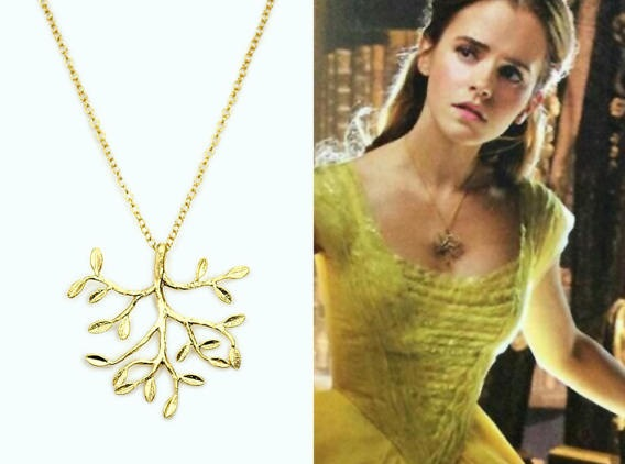 Enchanting Belle's Golden Tree Necklace Replica