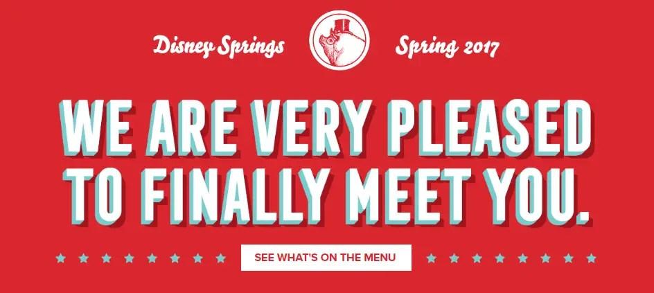 The Full Menu at Disney Springs Newest Restaurant The Polite Pig Revealed