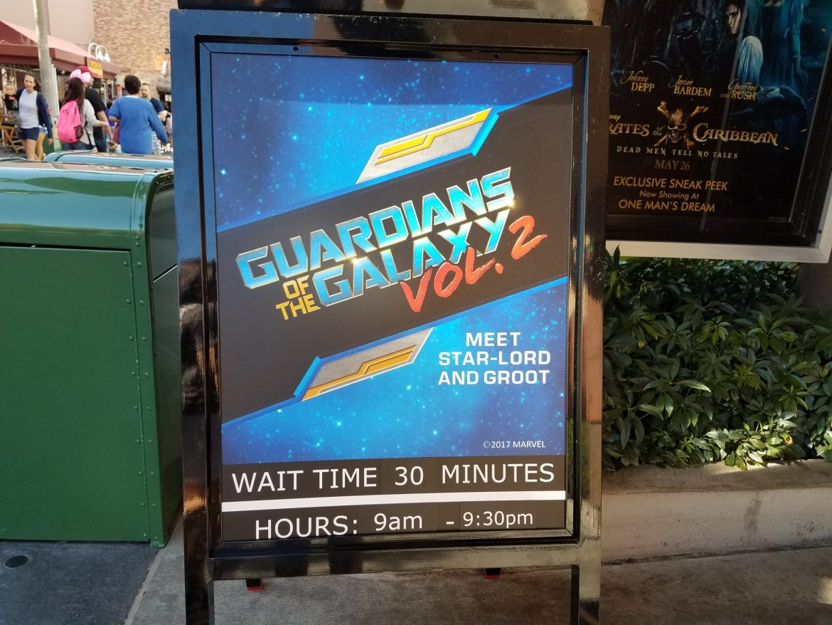 Star-Lord and Groot Character Meet & Greet Now Open in Hollywood Studios
