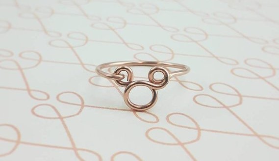 Wire Wrapped Mickey Mouse Ring