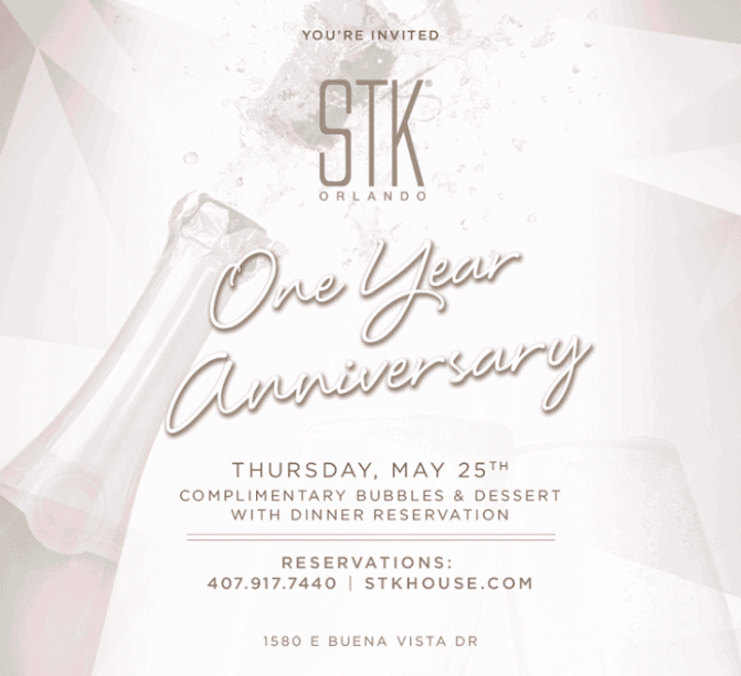 STK Orlando Celebrates One Year Anniversary in Disney Springs