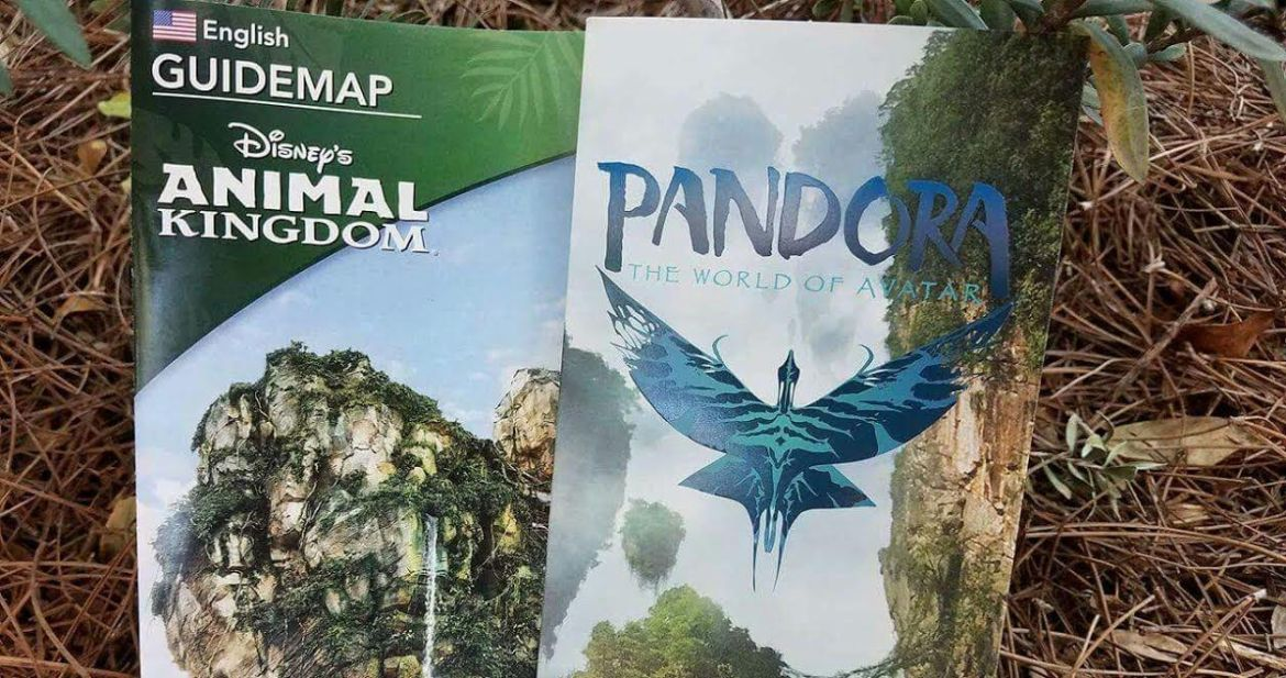First Look at the New Animal Kingdom GUIDEMAP and New Pandora – The World of Avatar Guide