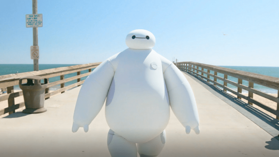 Newest Disney 'IRL' Brings Baymax to the Beach!