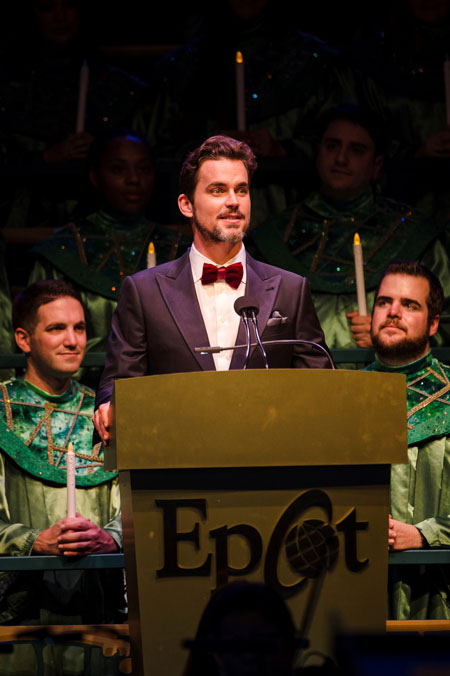 Matt Bomer Gets Festive at Epcot for the Candlelight Processional