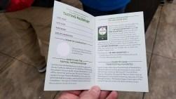 Tasting Passport Inside Front