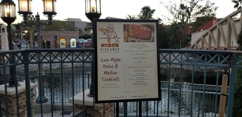Enzo's Hideaway in Disney Springs is a true hidden gem