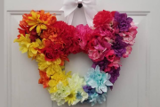 Brighten Your Door For Summer With A Floral Mickey Mouse Wreath