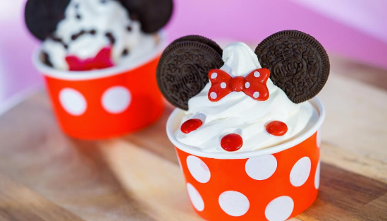Clarabelle's Mickey and Minnie Mouse Sundaes