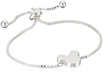 Simple And Chic Mickey Silver Pull Bracelet 2