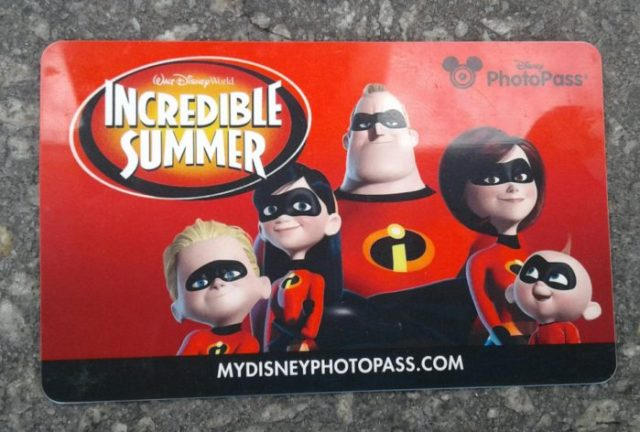 Incredibles PhotoPass Cards