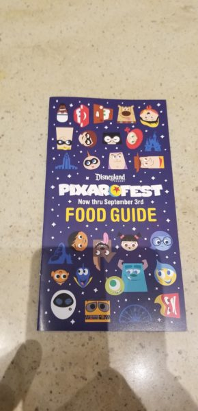 Pixar Fest Food Guide
