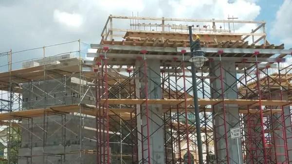 PHOTO: Construction on the Disney Spring Parking Garage Pedestrian Walkway Progresses 2
