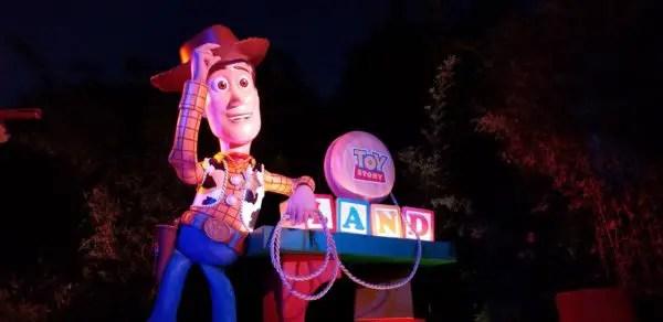 Nighttime Toy Story Land