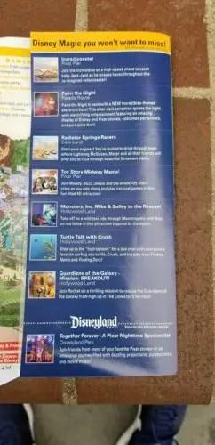 All New Disney California Adventure Park Maps Featuring Pixar Pier 3