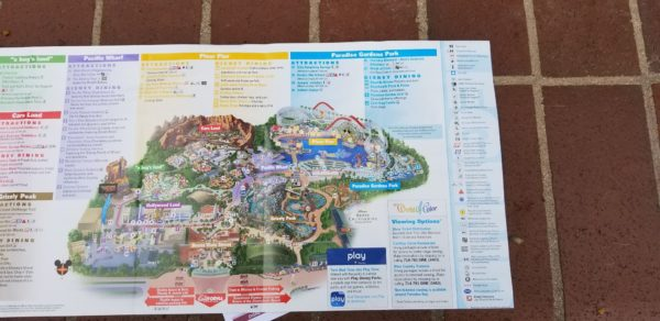 Map Of California Disney.All New Disney California Adventure Park Maps Featuring Pixar Pier